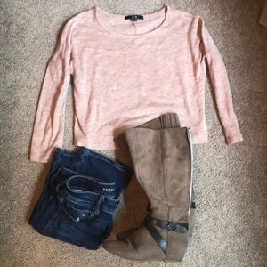 Forever 21 Sweater - Small - Cream/pink